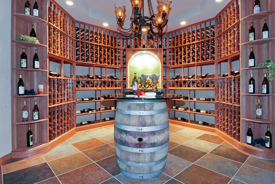 Real Estate Photography - 4508 Corktree, Naperville, IL, 60564 - Wine Cellar, Temperature Controlled