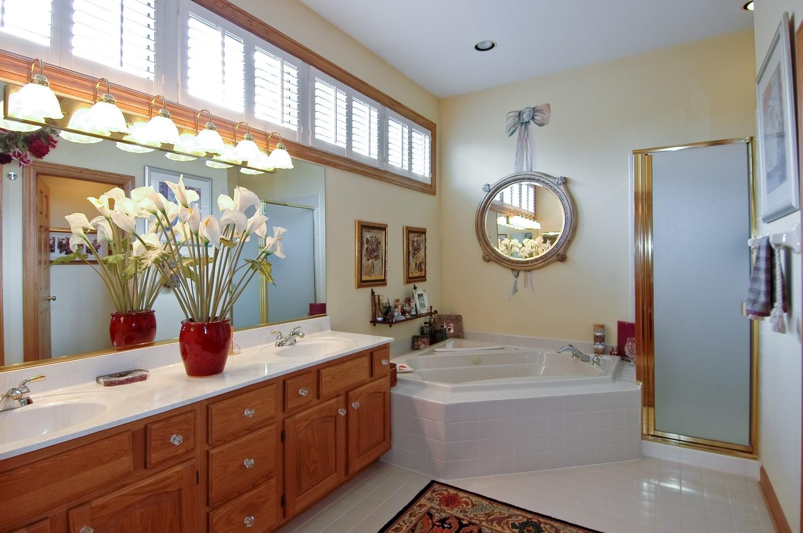 Real Estate Photography - 5 La Costa, Lake in the Hills, IL, 60156 - Master Bathroom