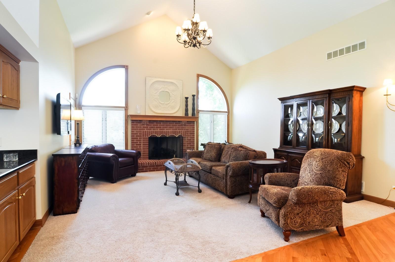 Real Estate Photography - 5 La Costa, Lake in the Hills, IL, 60156 - Family Room