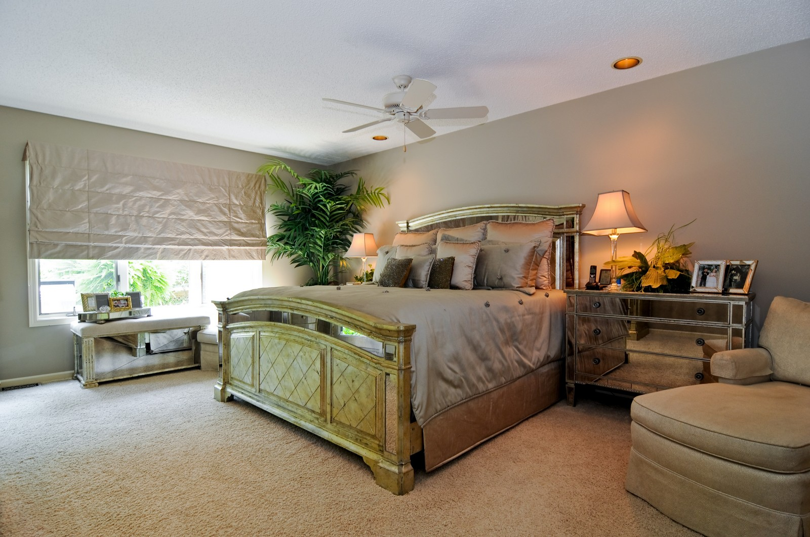 Real Estate Photography - 20060 Inverness, Olympia Fields, IL, 60461 - Master Bedroom