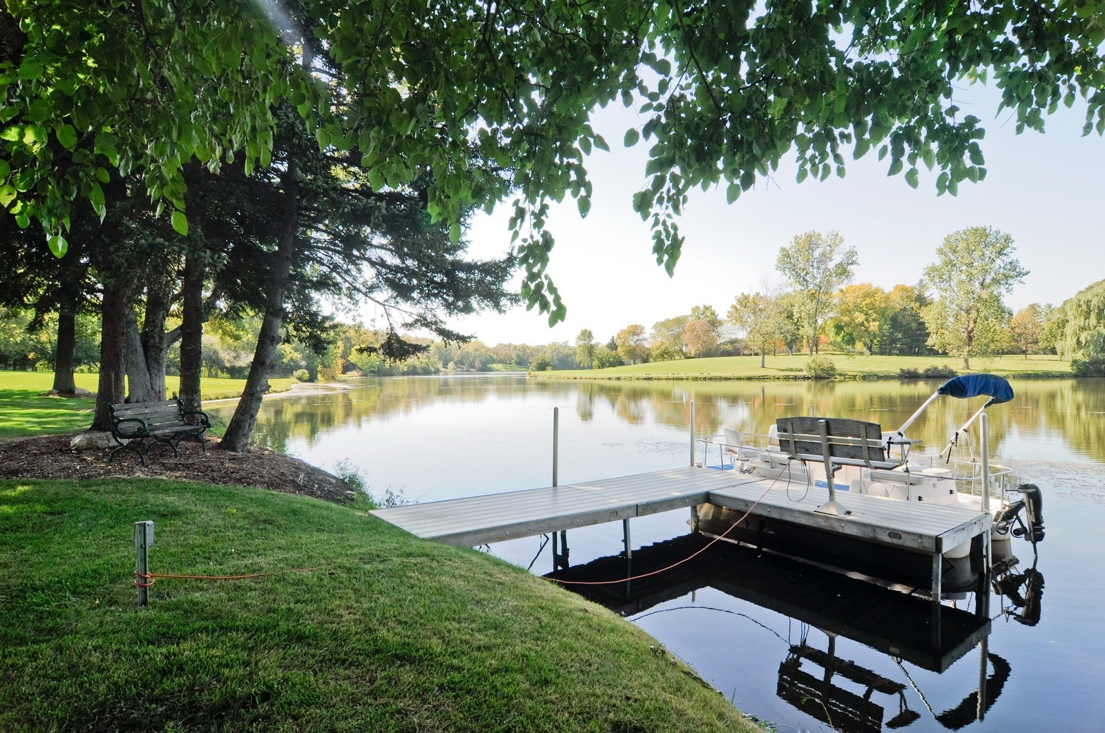 Real Estate Photography - 70 Dundee, Barrington Hills, IL, 60010 - Dock