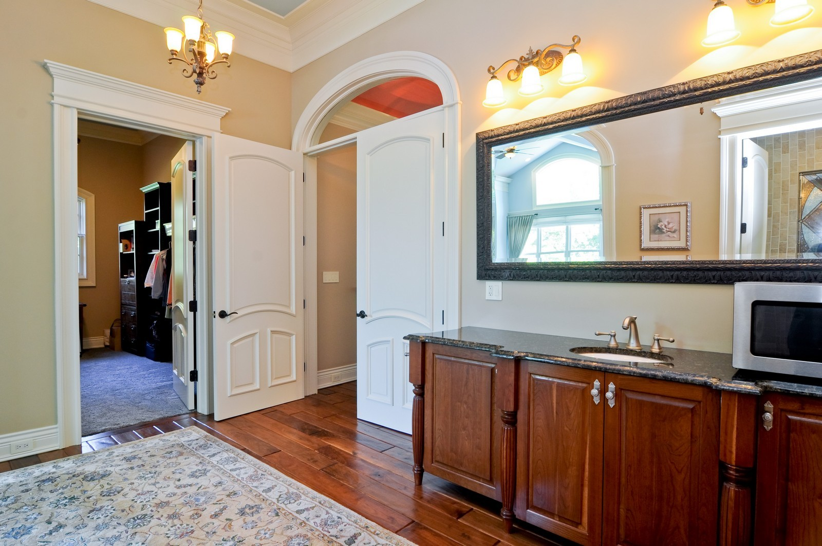 Real Estate Photography - 70 Dundee, Barrington Hills, IL, 60010 - Master Bedroom Bath and Closet