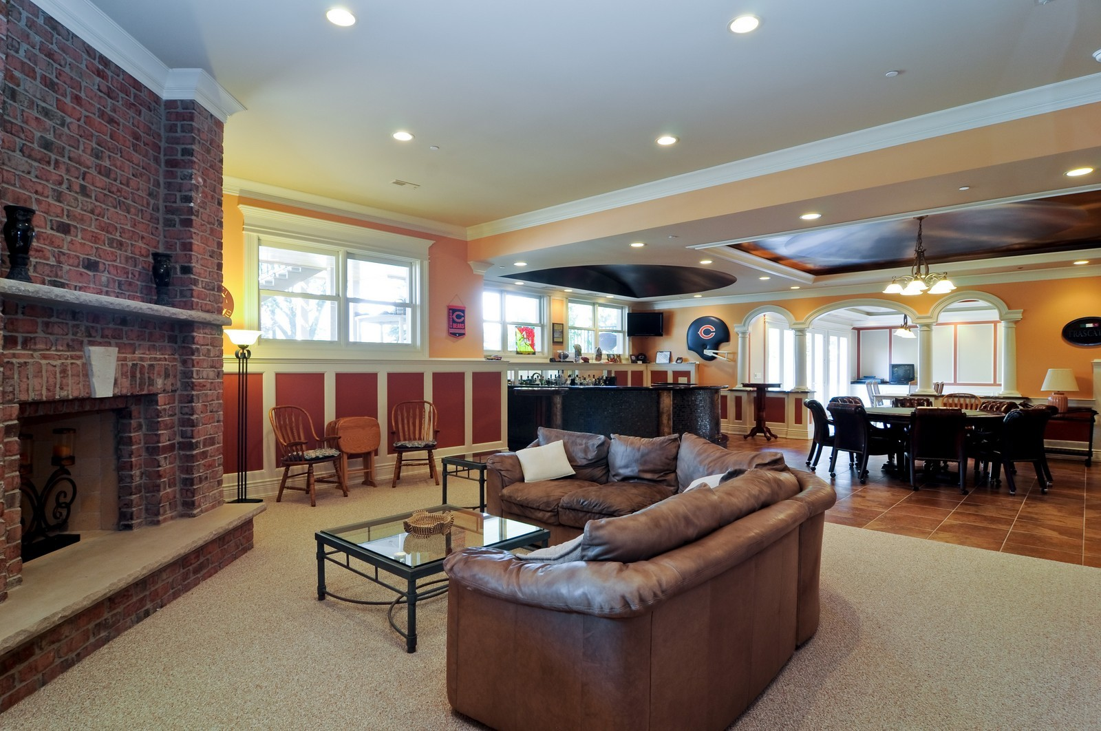 Real Estate Photography - 70 Dundee, Barrington Hills, IL, 60010 - Lower Level Family Room