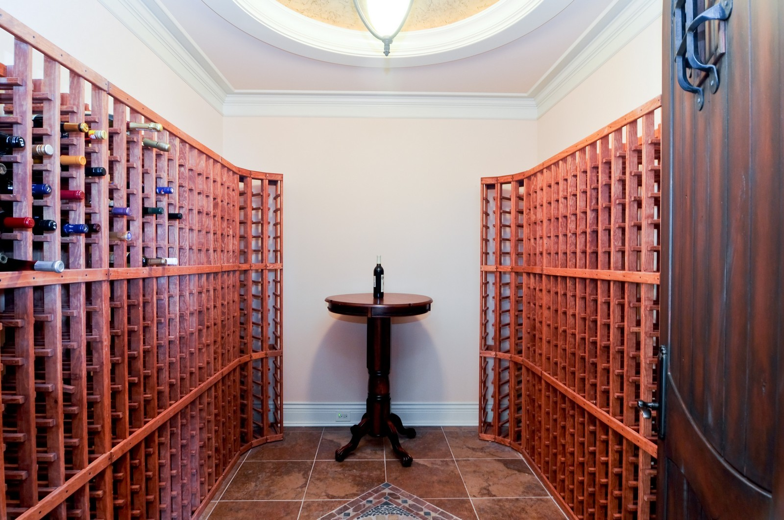 Real Estate Photography - 70 Dundee, Barrington Hills, IL, 60010 - Wine Cellar
