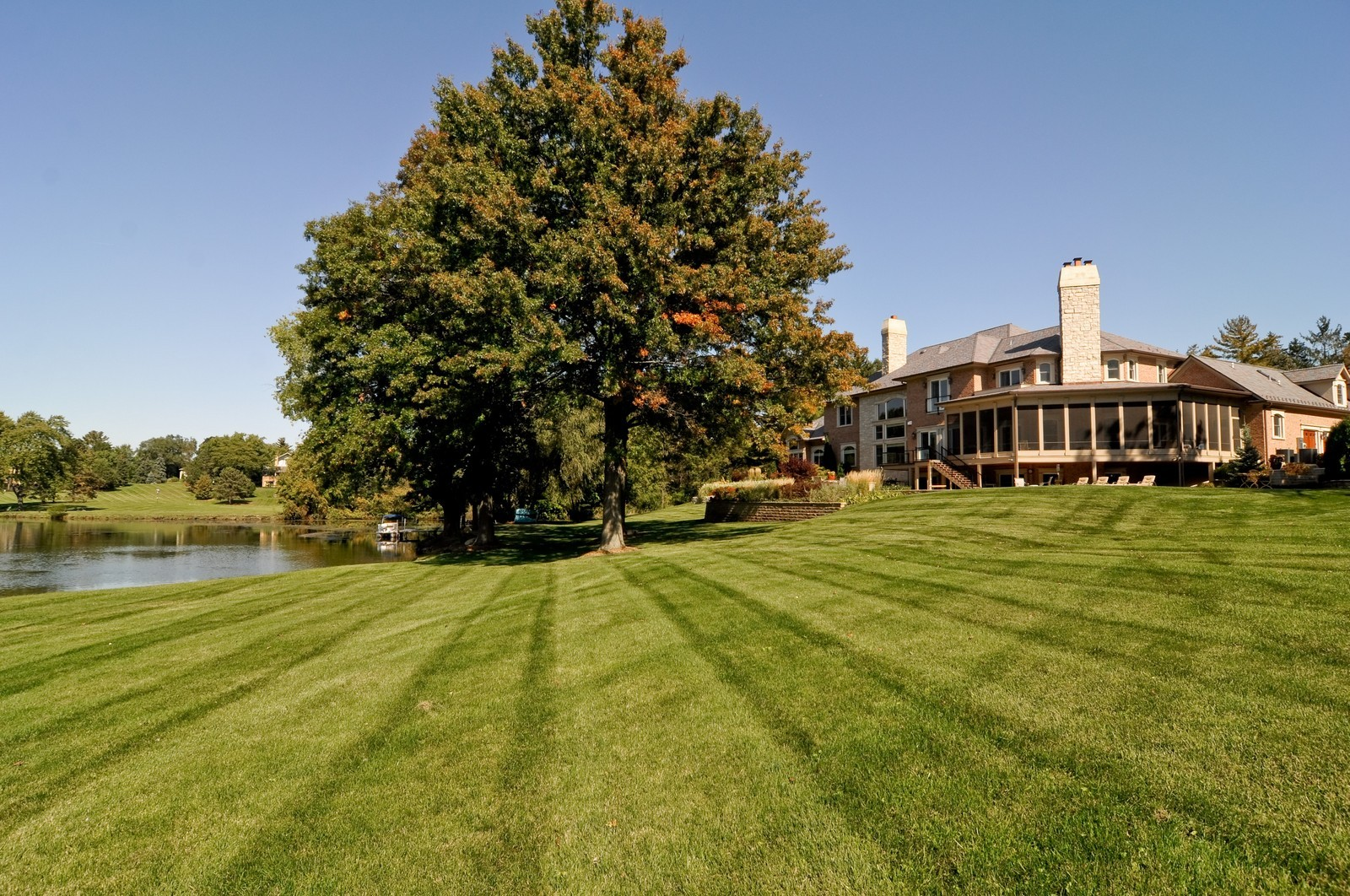 Real Estate Photography - 70 Dundee, Barrington Hills, IL, 60010 - Back Yard