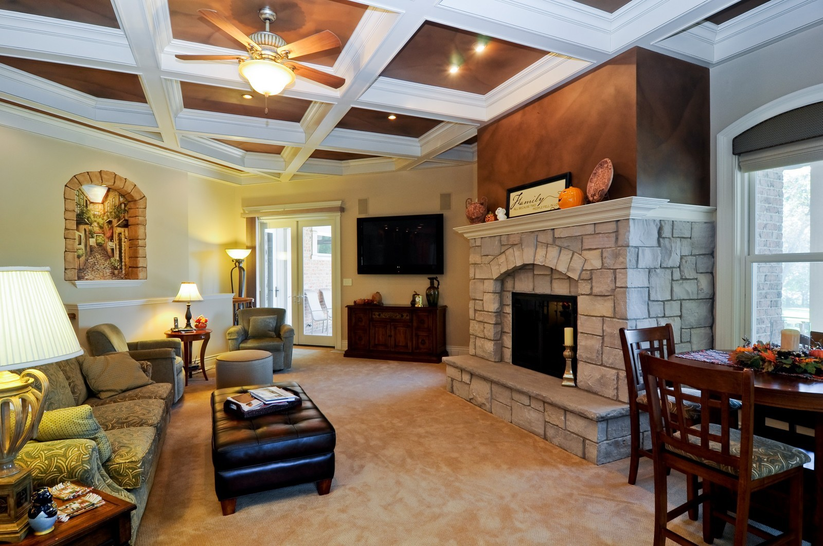 Real Estate Photography - 70 Dundee, Barrington Hills, IL, 60010 - Family/Morning Room