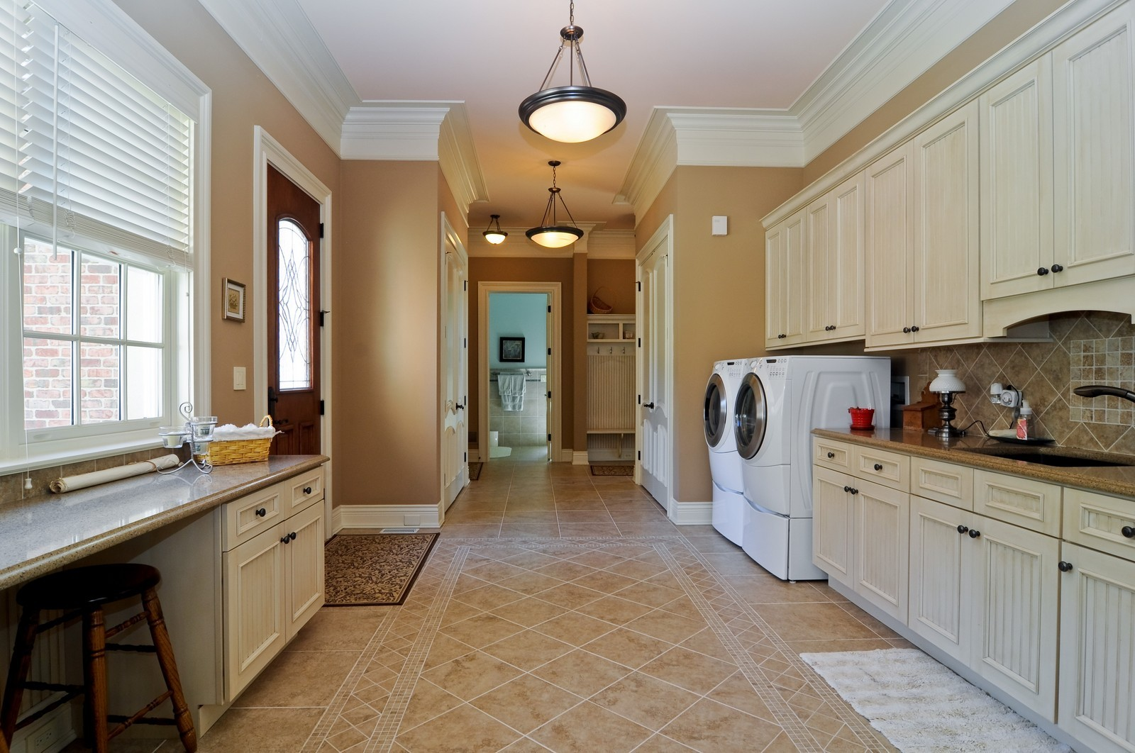 Real Estate Photography - 70 Dundee, Barrington Hills, IL, 60010 - Mud Room and Laundry