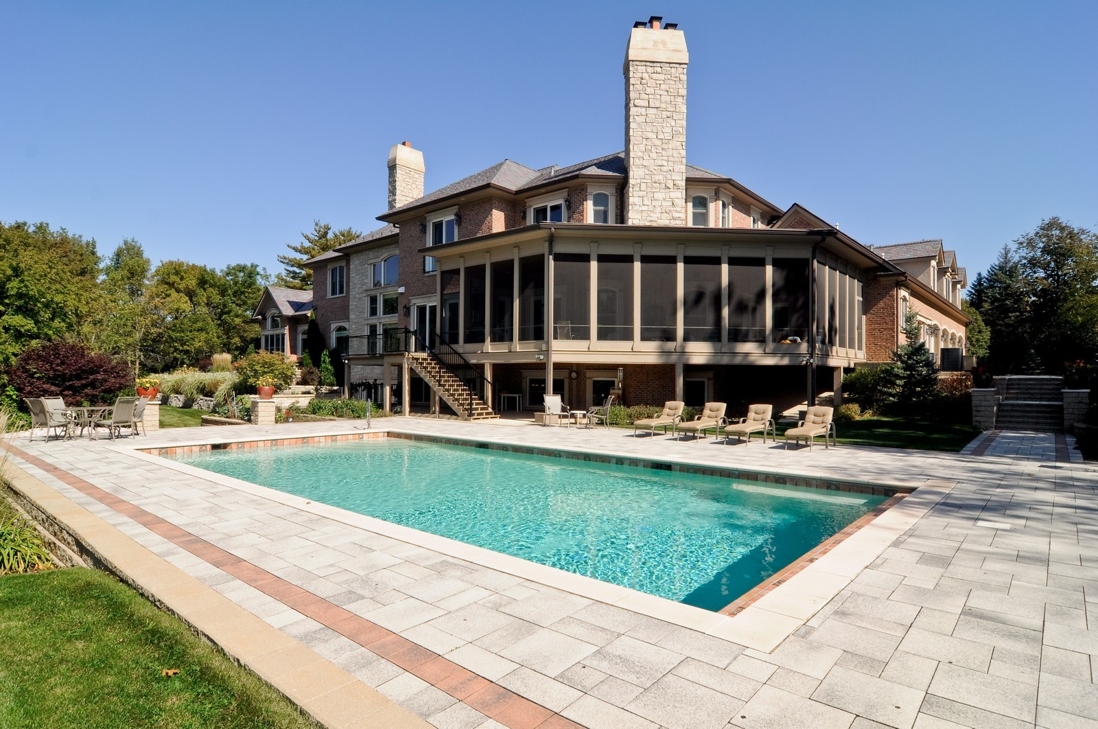 Real Estate Photography - 70 Dundee, Barrington Hills, IL, 60010 - Rear View