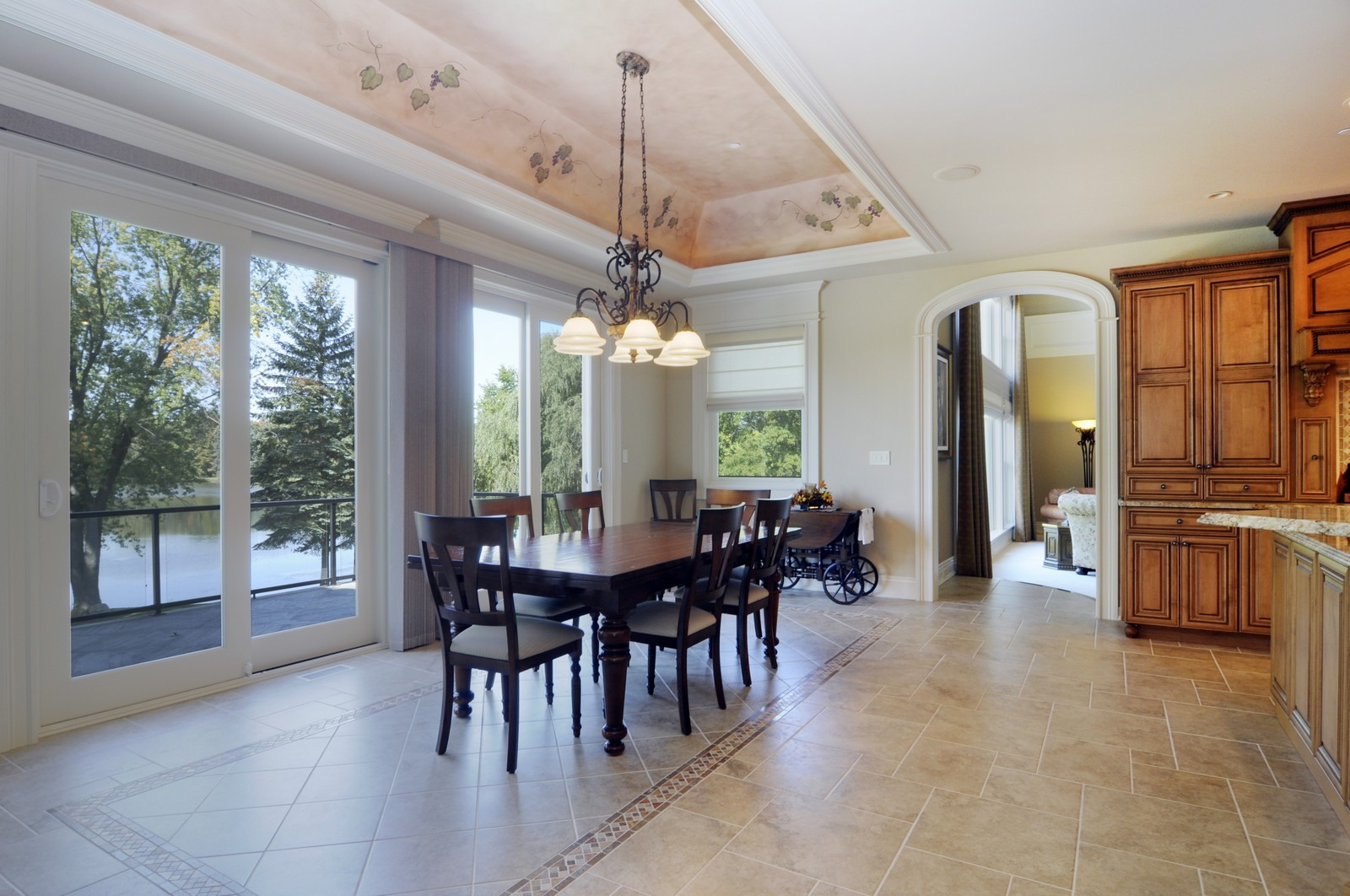 Real Estate Photography - 70 Dundee, Barrington Hills, IL, 60010 - Breakfast Nook
