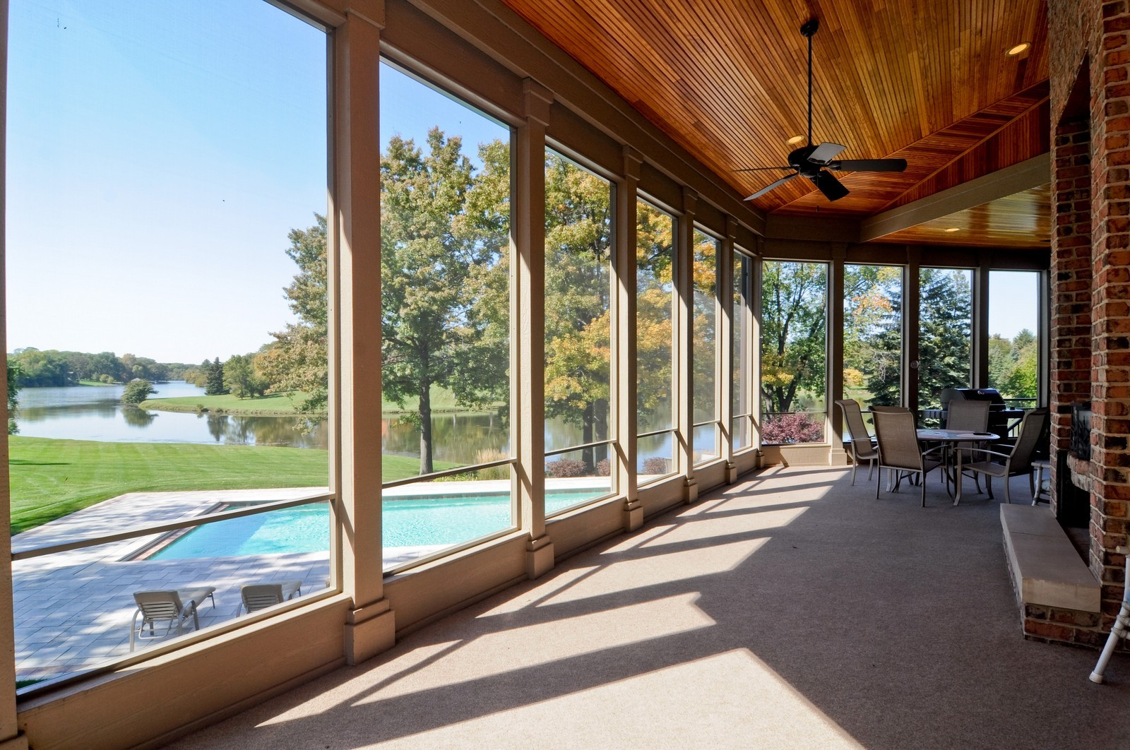 Real Estate Photography - 70 Dundee, Barrington Hills, IL, 60010 - Sun Room Screen Porch