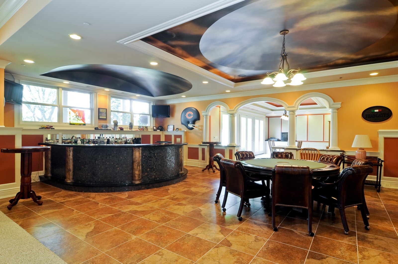 Real Estate Photography - 70 Dundee, Barrington Hills, IL, 60010 - Lower Level Bar