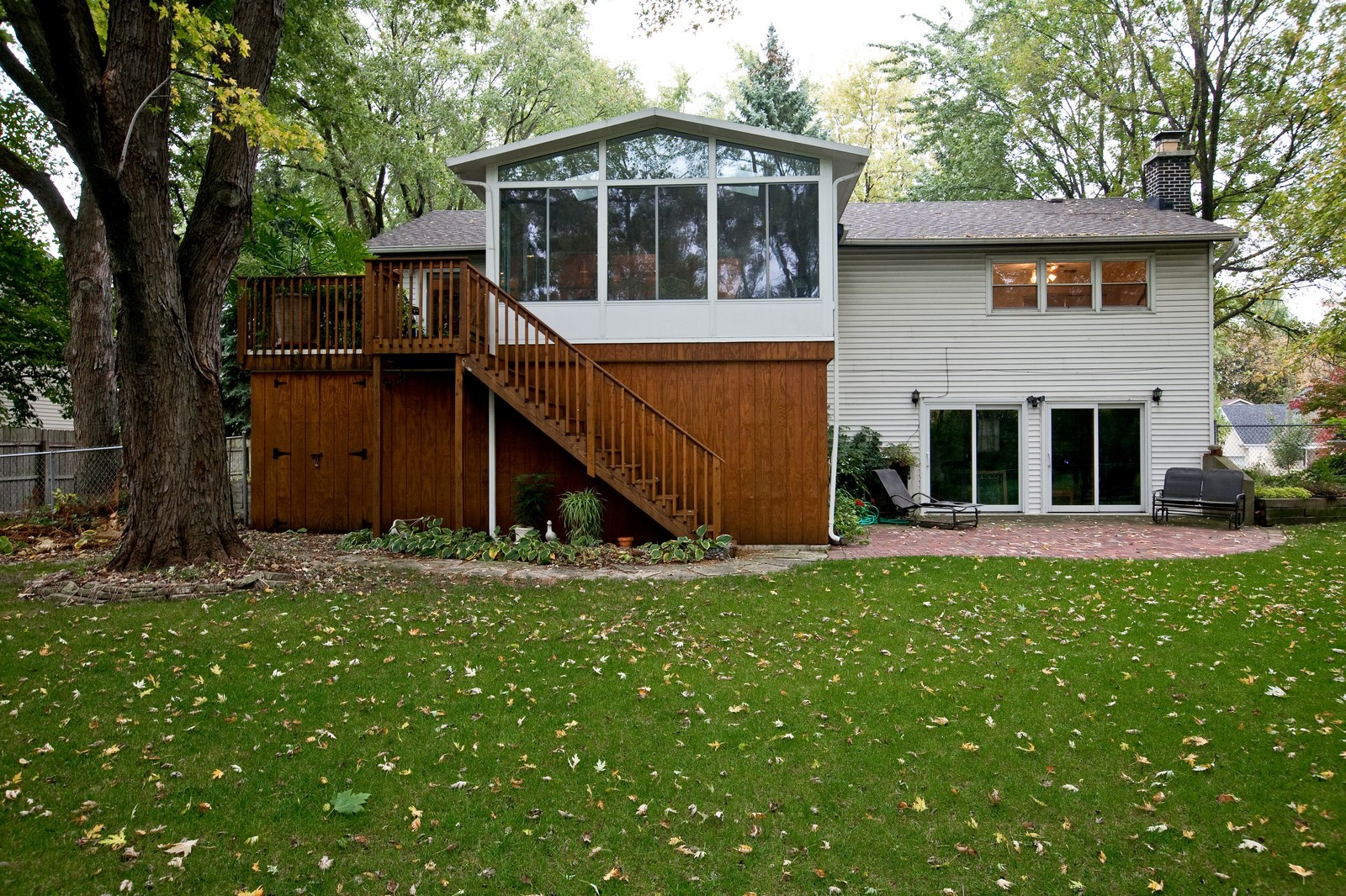 Real Estate Photography - 4402 Black Partridge, Lisle, IL, 60532 - Rear View