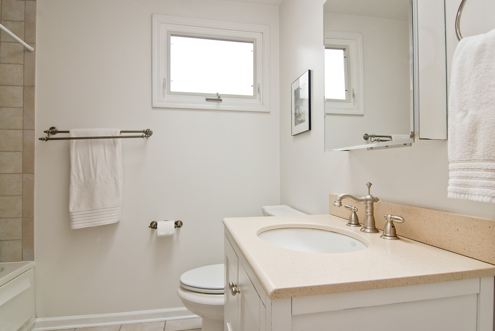 Real Estate Photography - 3436 N Kilbourn, Chicago, IL, 60641 - Bathroom