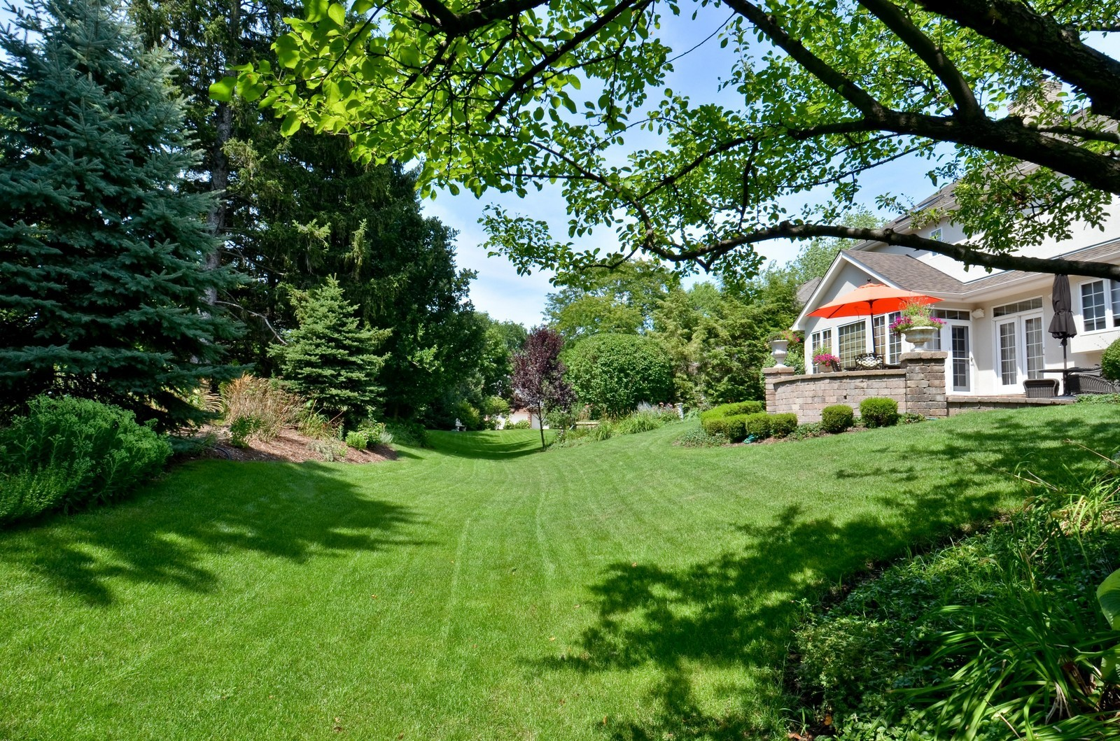 Real Estate Photography - 1492 Lloyd, Wheaton, IL, 60189 - Back yard, view 3