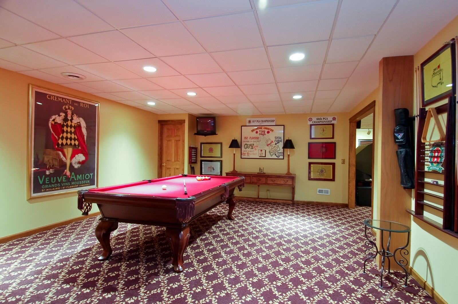 Real Estate Photography - 1492 Lloyd, Wheaton, IL, 60189 - Basement Game Room