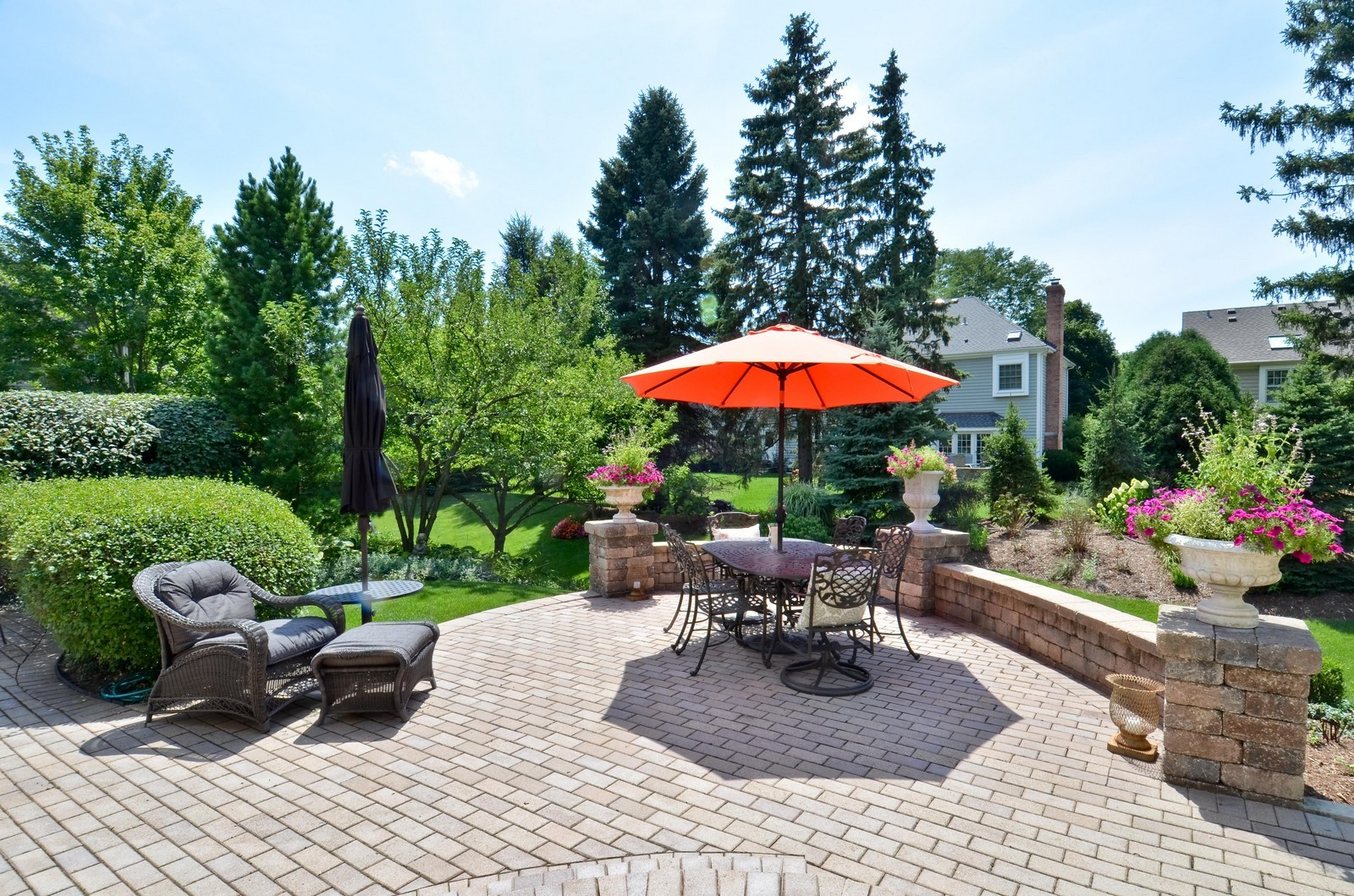 Real Estate Photography - 1492 Lloyd, Wheaton, IL, 60189 - Rear Patio