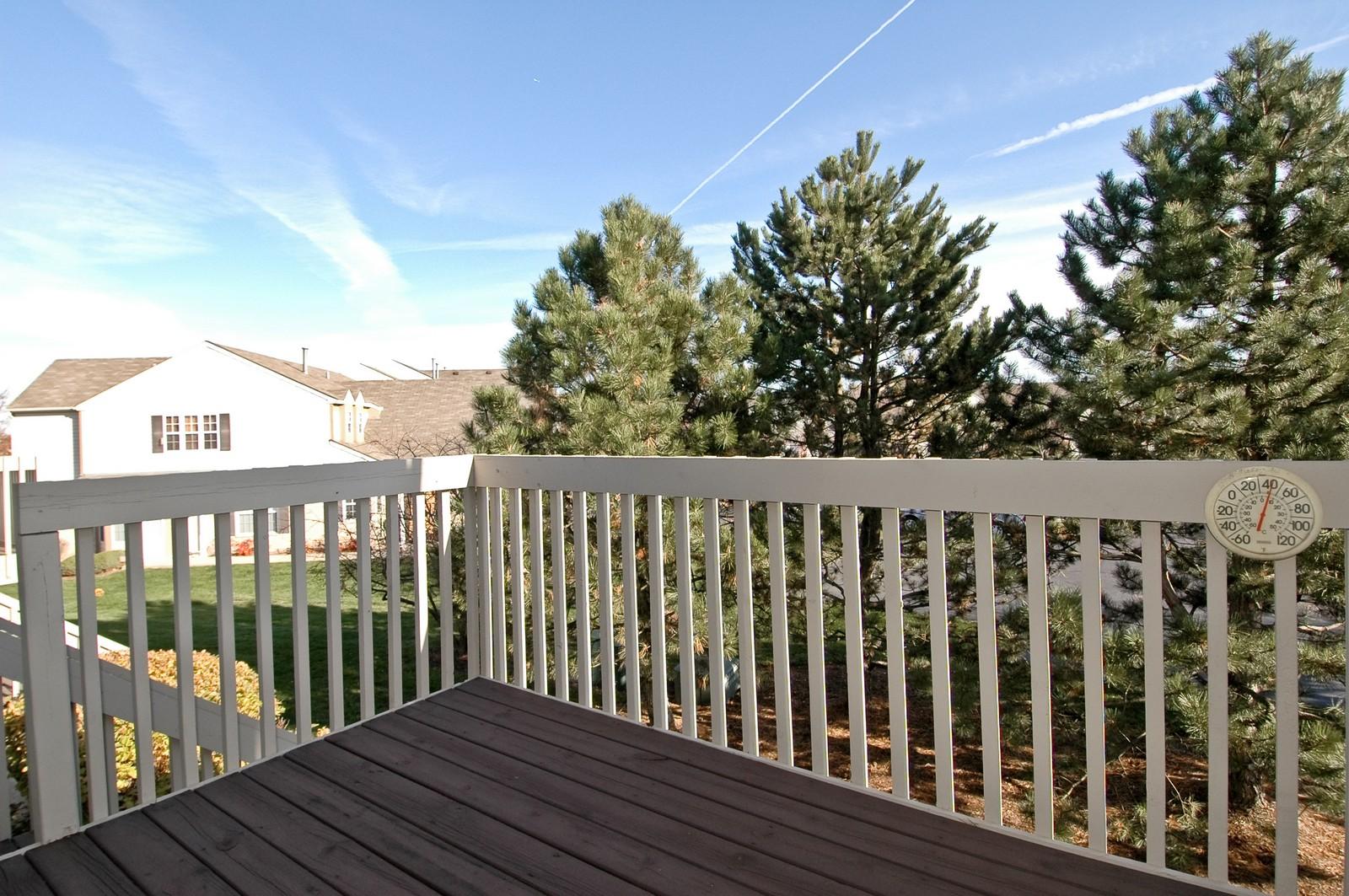 Real Estate Photography - 346 Crystal Ridge, Crystal Lake, IL, 60014 - Balcony