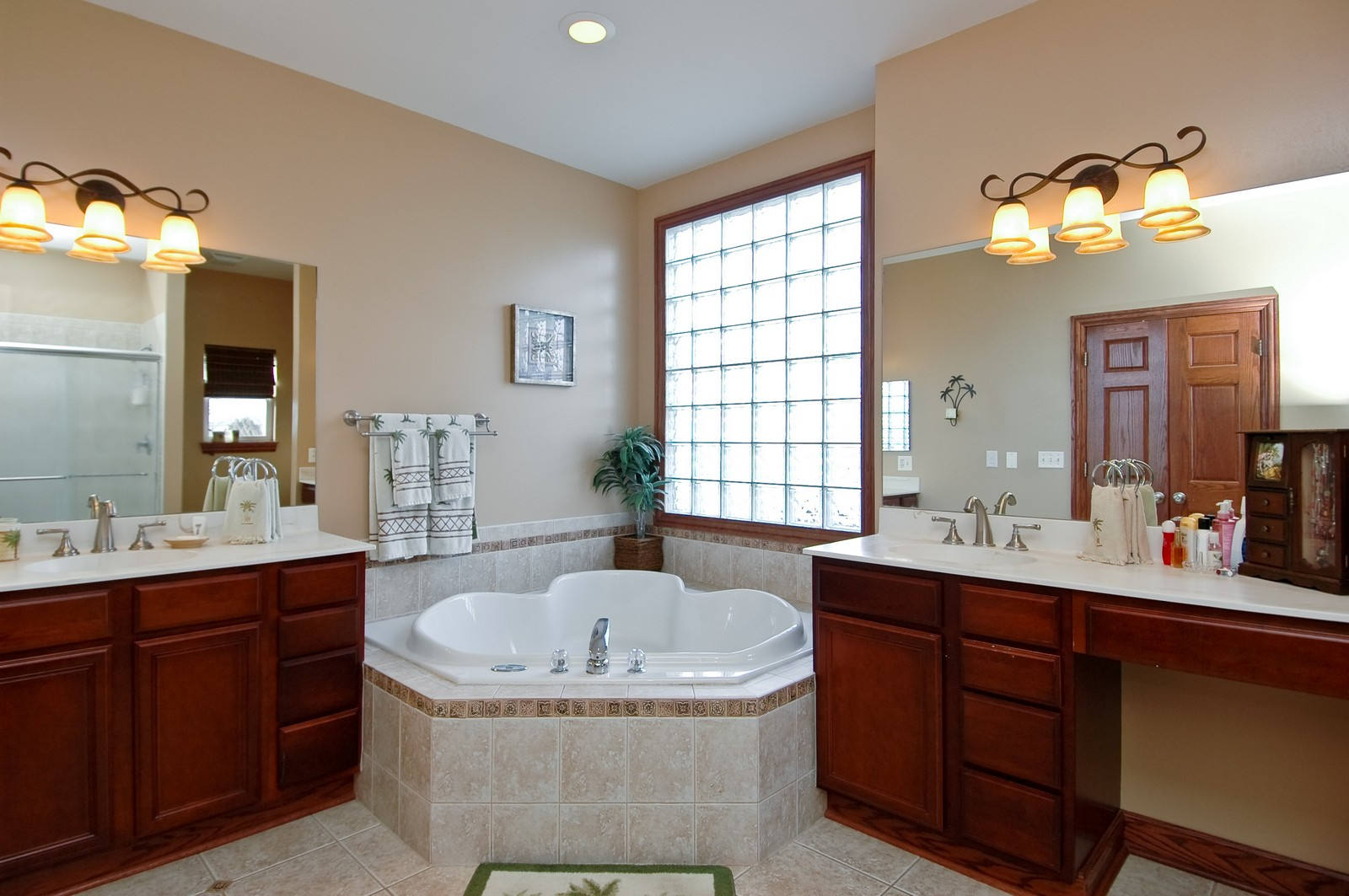 Real Estate Photography - 5522 Dakota Ridge, Johnsburg, IL, 60050 - Master Bathroom