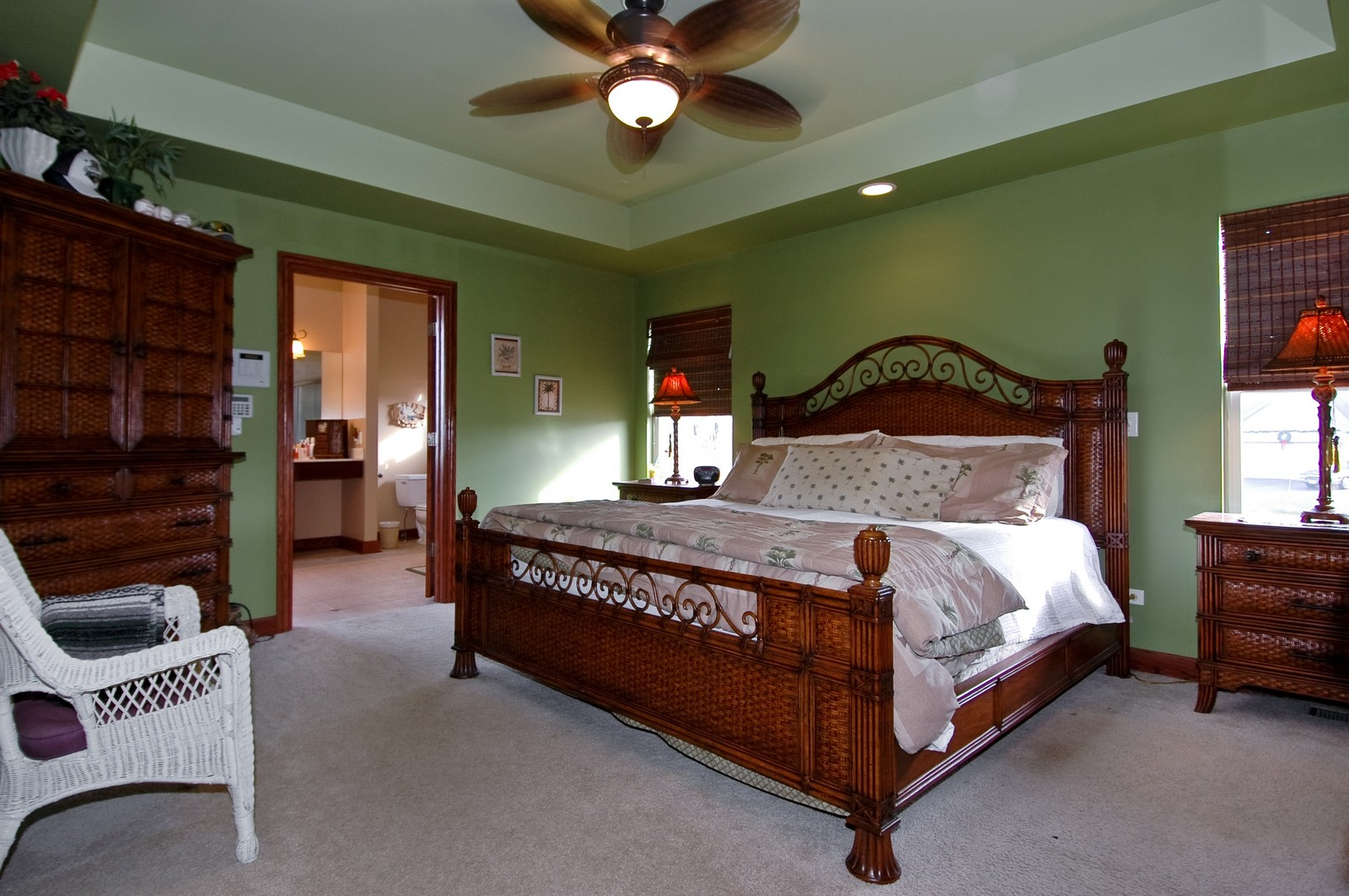 Real Estate Photography - 5522 Dakota Ridge, Johnsburg, IL, 60050 - Master Bedroom