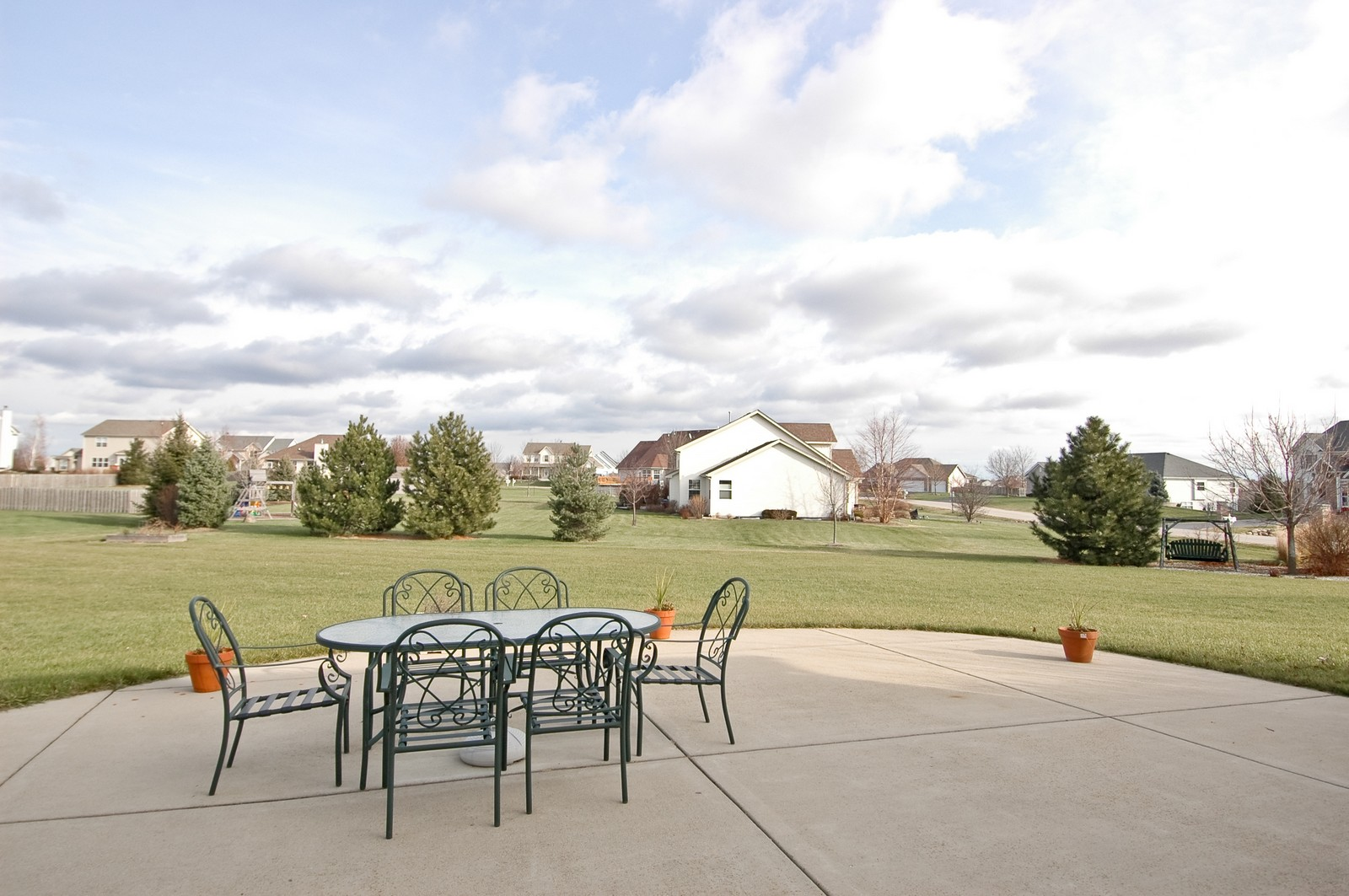 Real Estate Photography - 5522 Dakota Ridge, Johnsburg, IL, 60050 - Back Yard