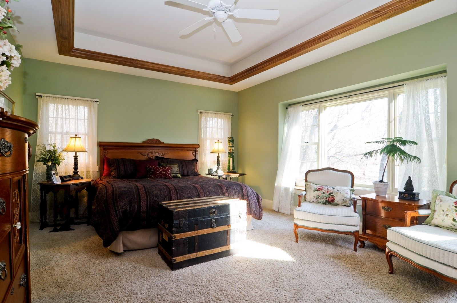 Real Estate Photography - 7420 S Rawson Bridge, Cary, IL, 60013 - Master Bedroom