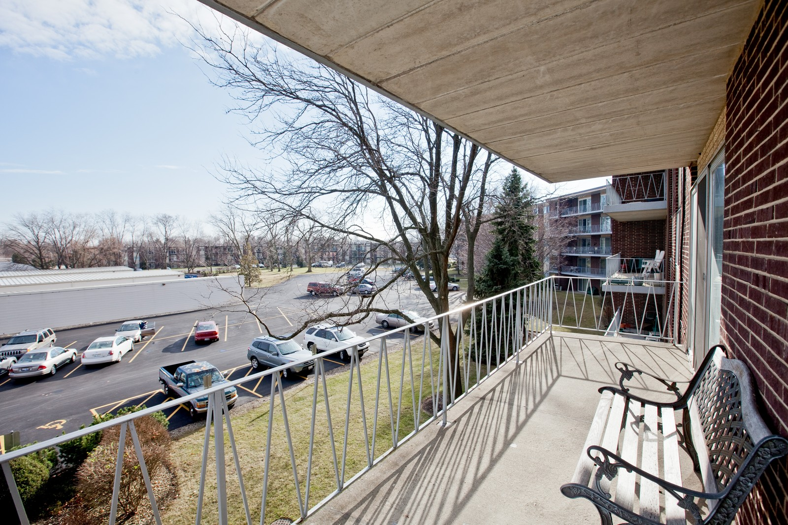 Real Estate Photography - 2900 Maple, Unit 23C, Downers Grove, IL, 60515 - Deck