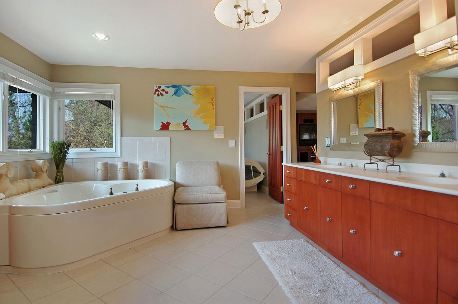 Real Estate Photography - 751 Lake, Crystal Lake, IL, 60014 - Master Bathroom