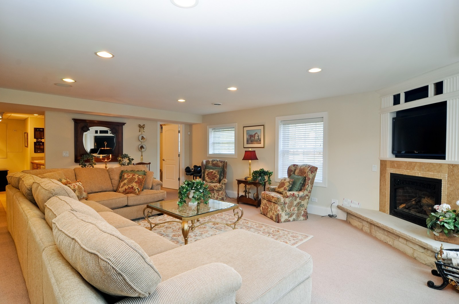 Real Estate Photography - 1885 Durham Drive, Inverness, IL, 60067 - Recreation Room