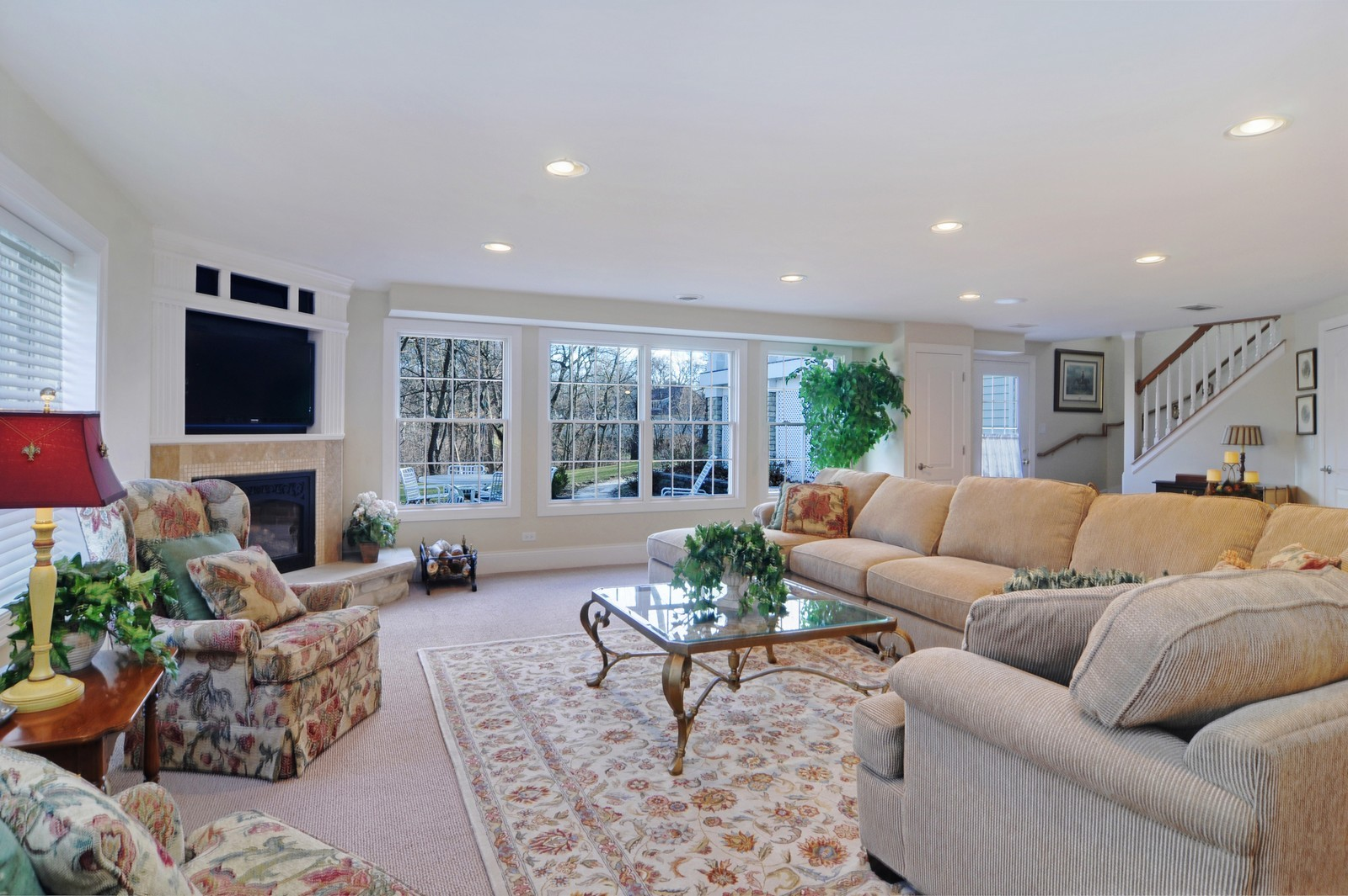 Real Estate Photography - 1885 Durham Drive, Inverness, IL, 60067 - Walk Out Lower Level