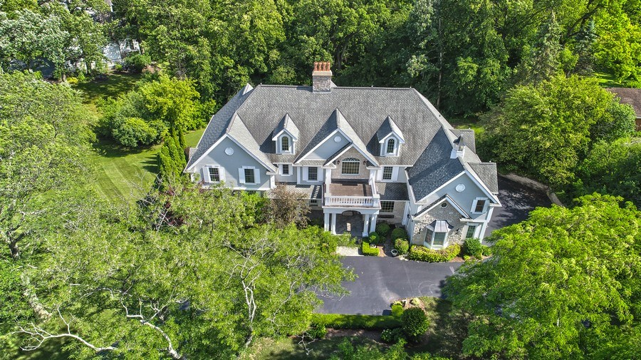 Real Estate Photography - 1885 Durham Drive, Inverness, IL, 60067 - Aerial View
