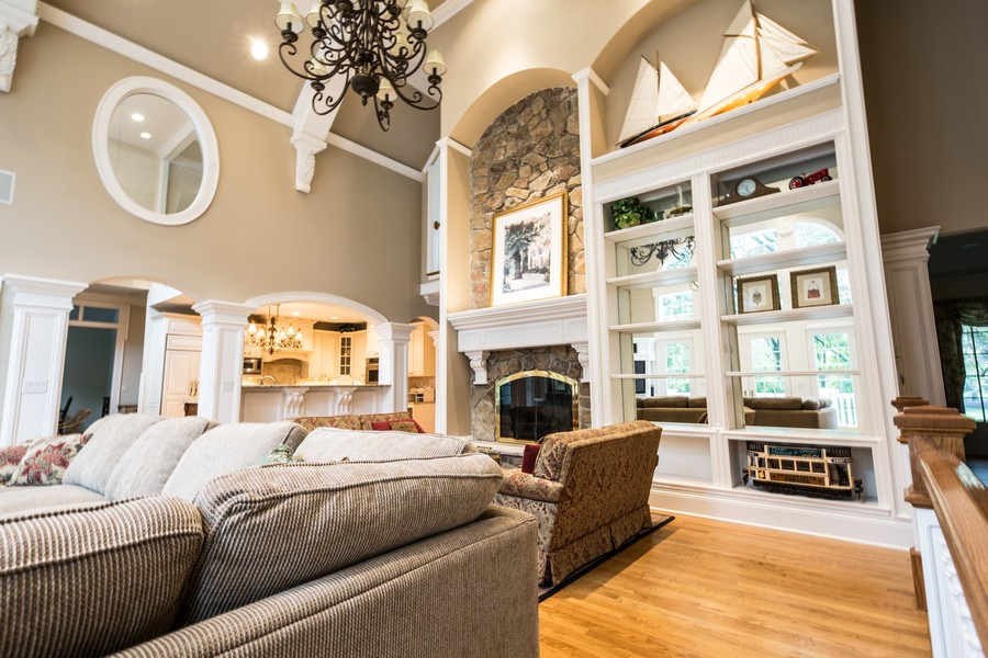 Real Estate Photography - 1885 Durham Drive, Inverness, IL, 60067 - Great Room Fireplace