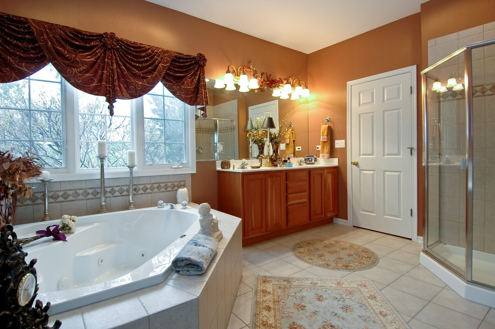 Real Estate Photography - 18N066 Carriage Way, Huntley, IL, 60142 - Master Bathroom