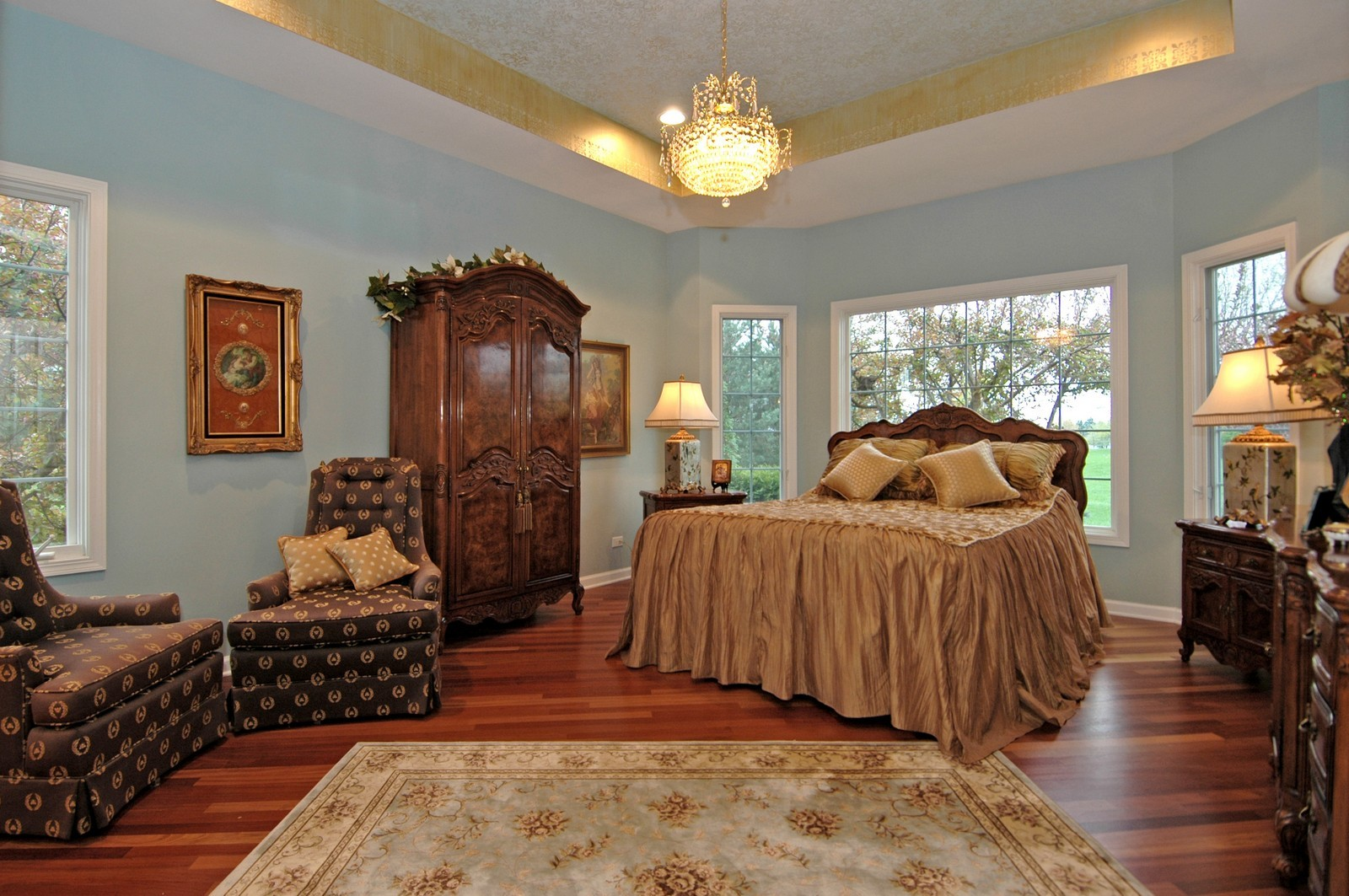 Real Estate Photography - 18N066 Carriage Way, Huntley, IL, 60142 - Master Bedroom
