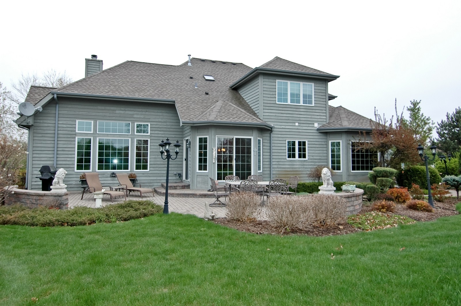 Real Estate Photography - 18N066 Carriage Way, Huntley, IL, 60142 - Rear View