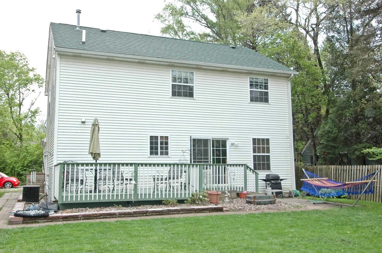 Real Estate Photography - 10315 Wilmette, Algonquin, IL, 60102 - Rear View