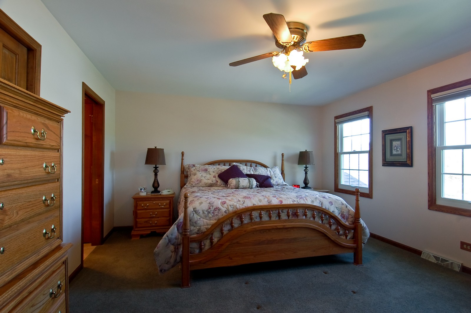 Real Estate Photography - 27W371 Churchill, Winfield, IL, 60190 - Master Bedroom