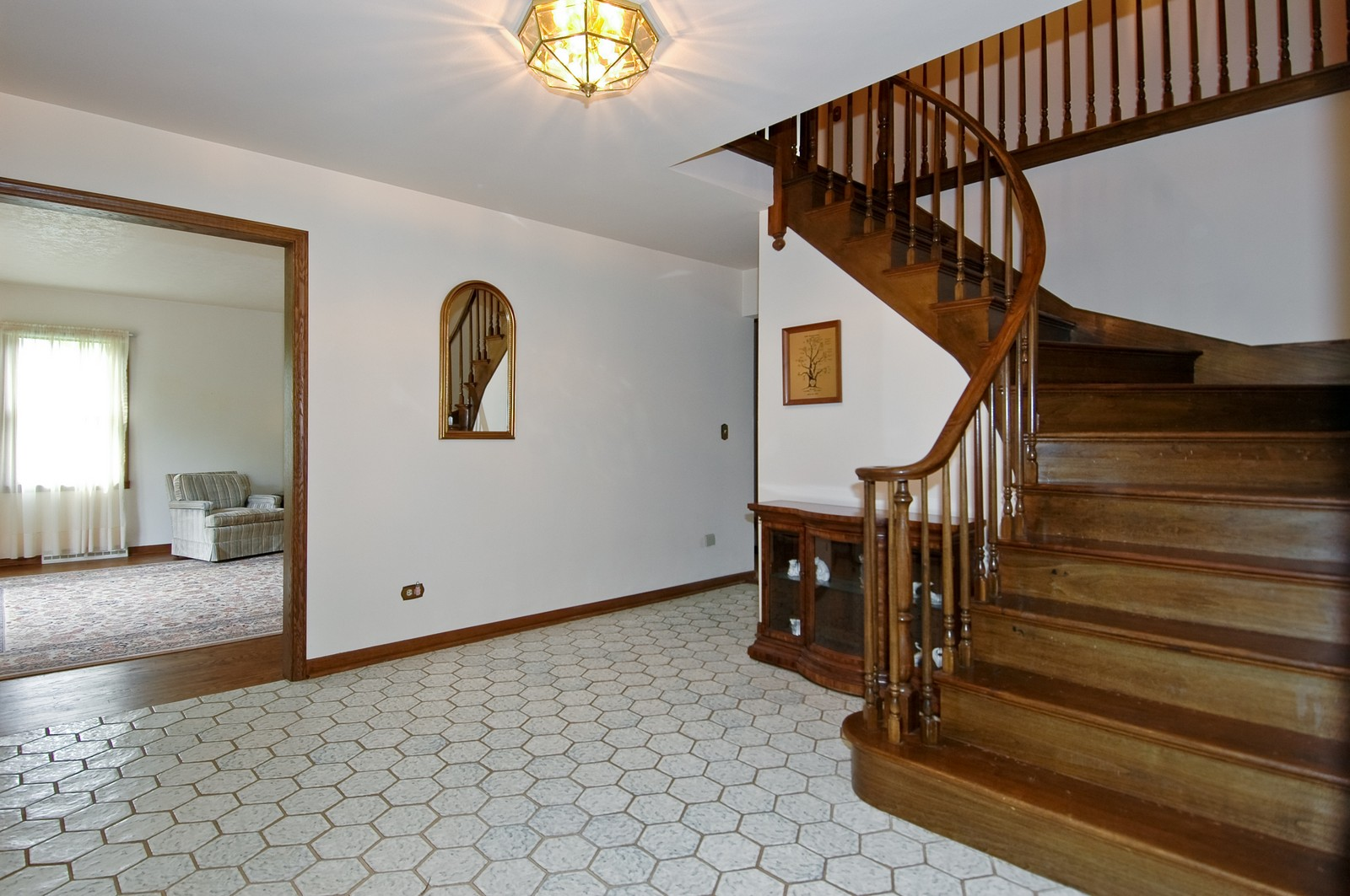 Real Estate Photography - 240 Steeplechase, Barrington Hills, IL, 60010 - Foyer/Living Room