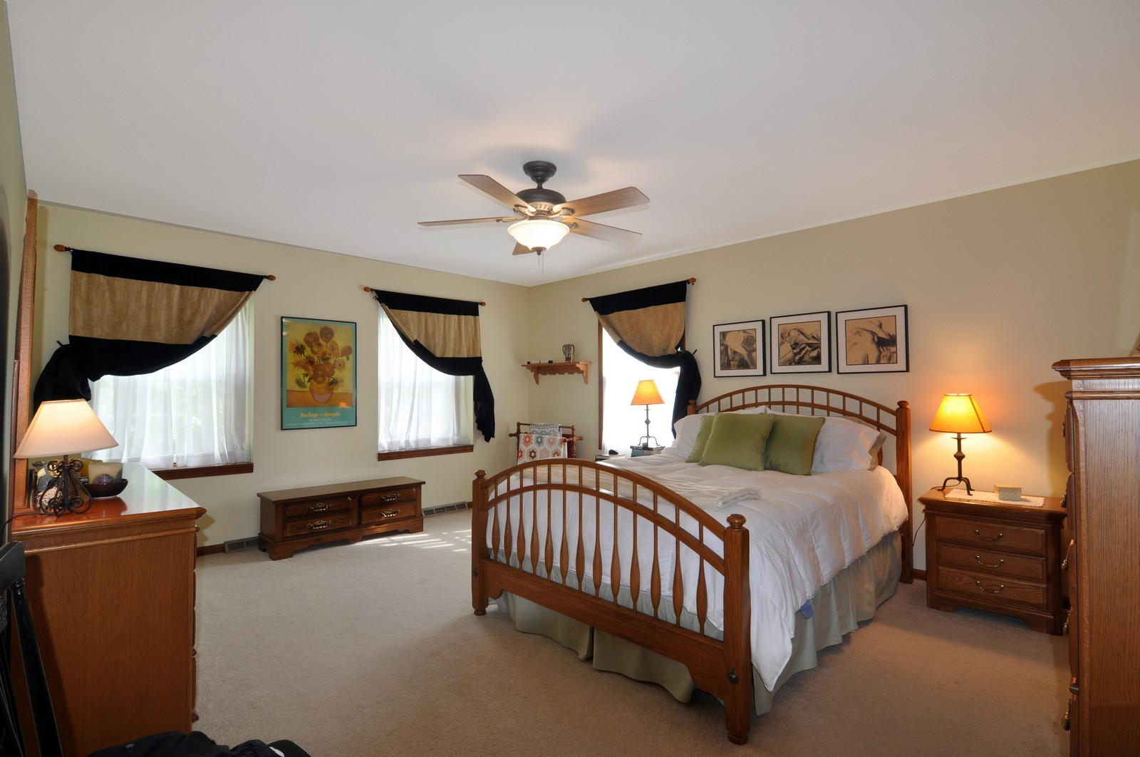 Real Estate Photography - 1523 Allen, St Charles, IL, 60174 - Master Bedroom