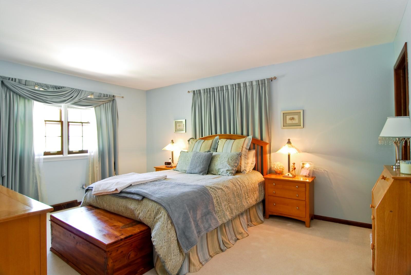 Real Estate Photography - 75 Newton, Glen Ellyn, IL, 60137 - Master Bedroom