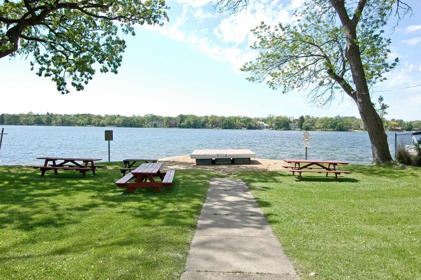 Real Estate Photography - 158 North Crystal Beach, Crystal Lake, IL, 60014 - Resident Beach Access
