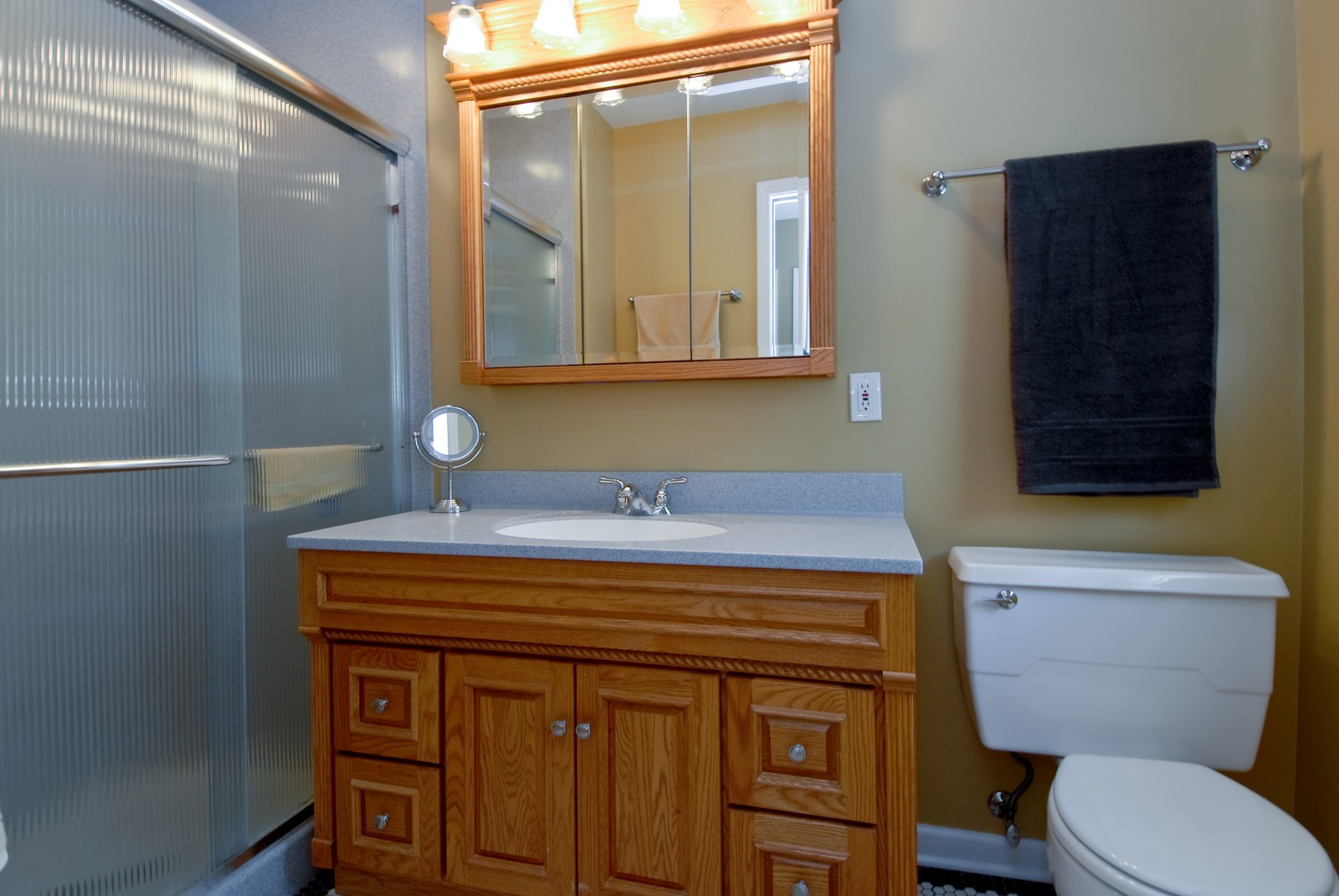 Real Estate Photography - 4N035 Thornapple Rd, St Charles, IL, 60174 - Master Bathroom