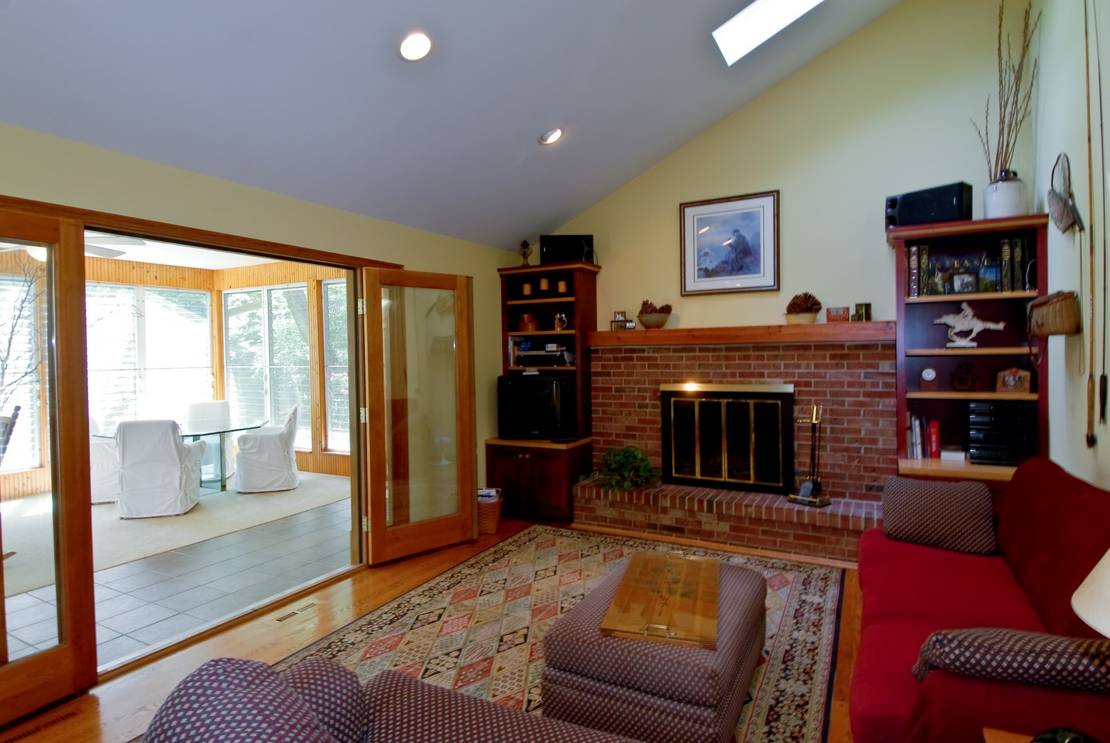 Real Estate Photography - 4N035 Thornapple Rd, St Charles, IL, 60174 - Family Room