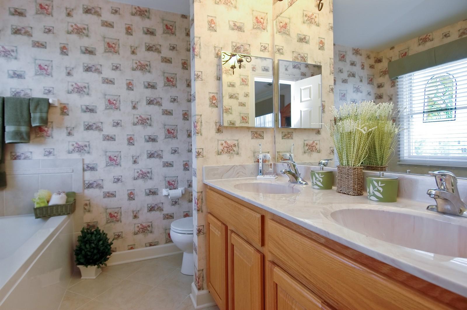 Real Estate Photography - 8337 Raptor, Lakewood, IL, 60014 - Master Bathroom