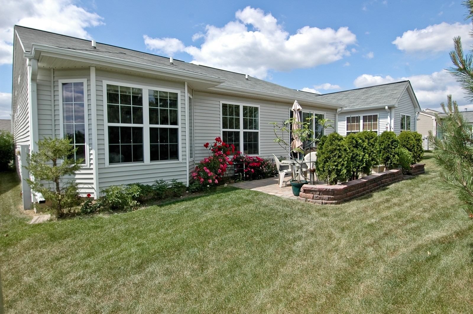 Real Estate Photography - 12206 Latham Trl, Huntley, IL, 60142 - Rear View