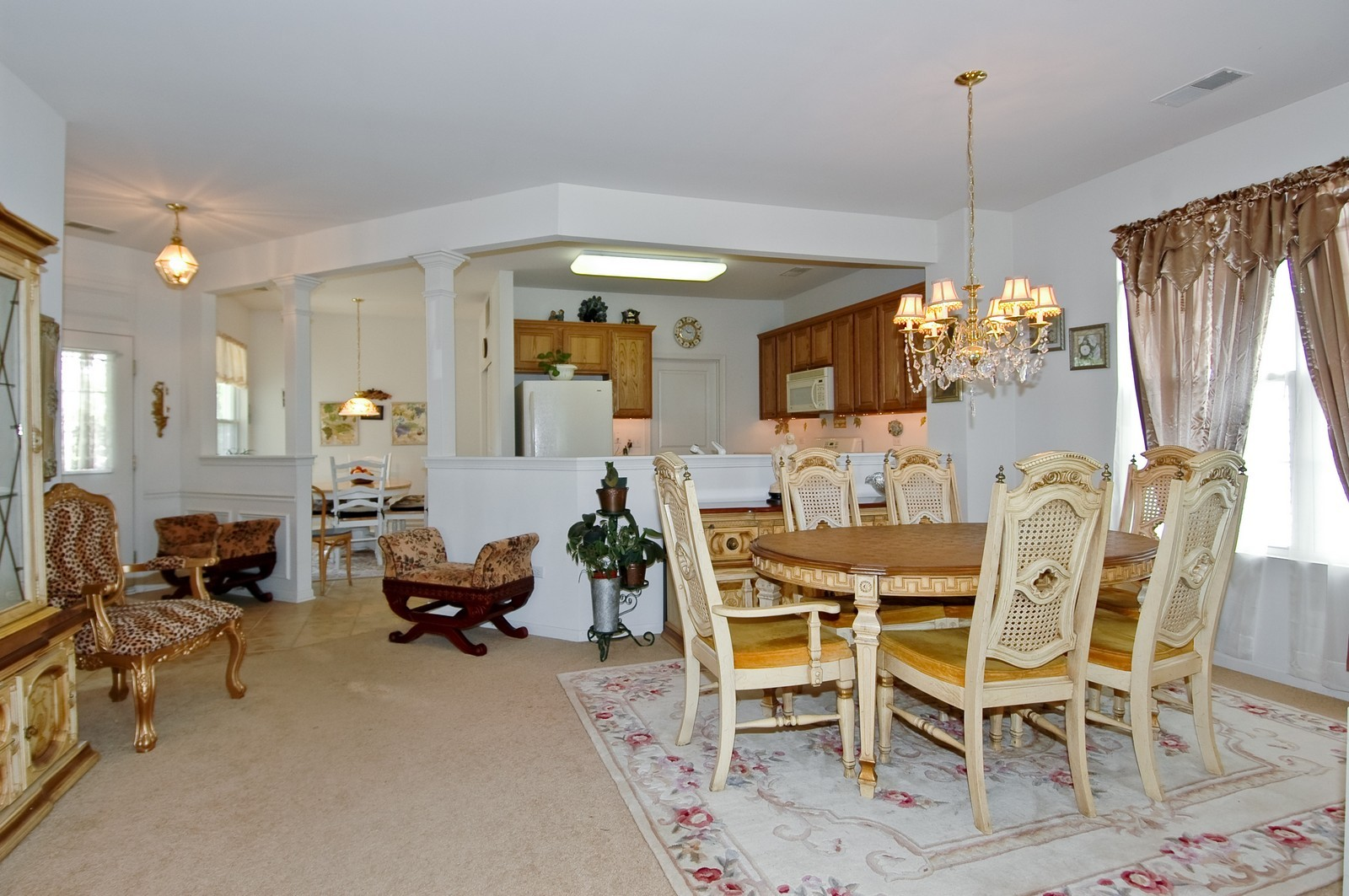 Real Estate Photography - 12206 Latham Trl, Huntley, IL, 60142 - Kitchen / Dining Room