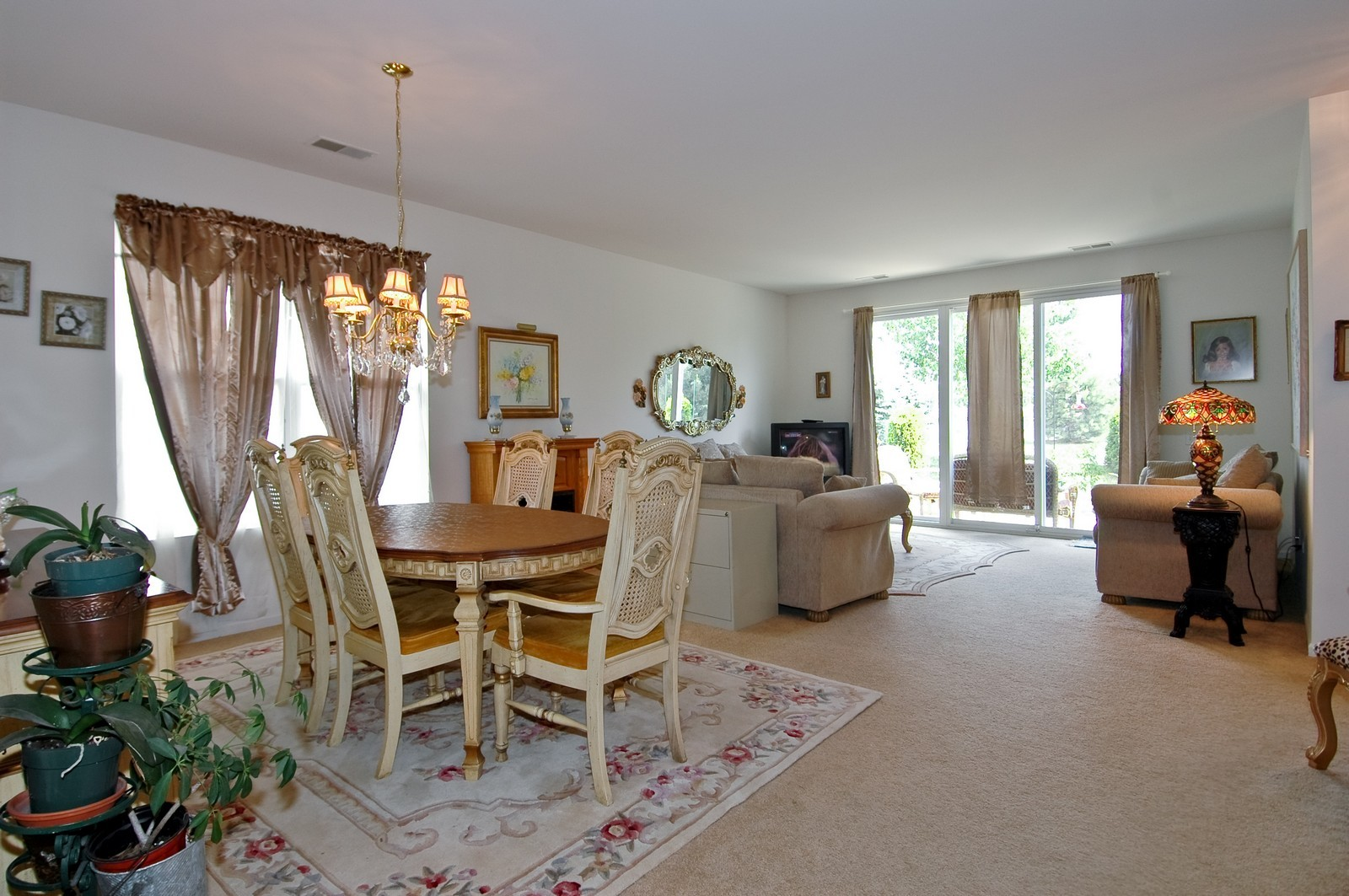 Real Estate Photography - 12206 Latham Trl, Huntley, IL, 60142 - Living Room / Dining Room