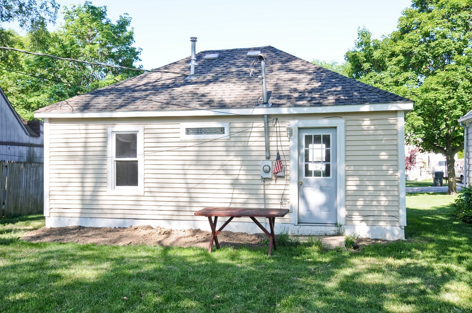 Real Estate Photography - 321 N Bellevue, Round Lake Park, IL, 60073 - Rear View