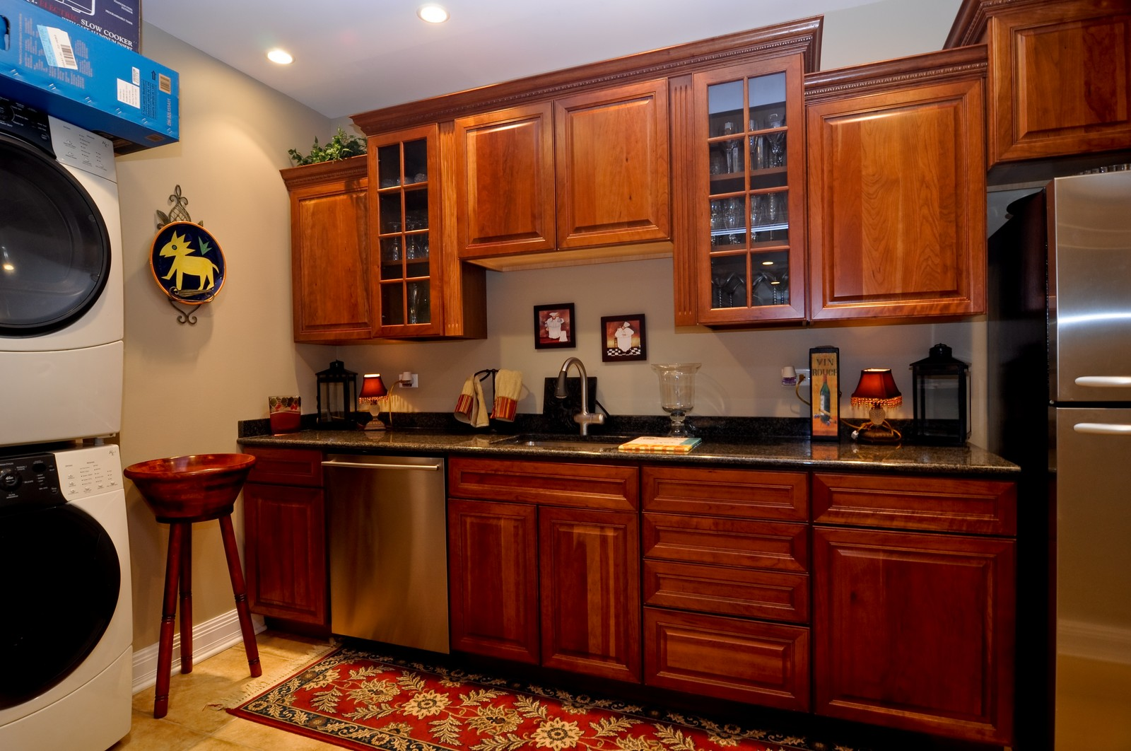Real Estate Photography - 7 Jane, Barrington Hills, IL, 60010 - Lower Level Kitchen