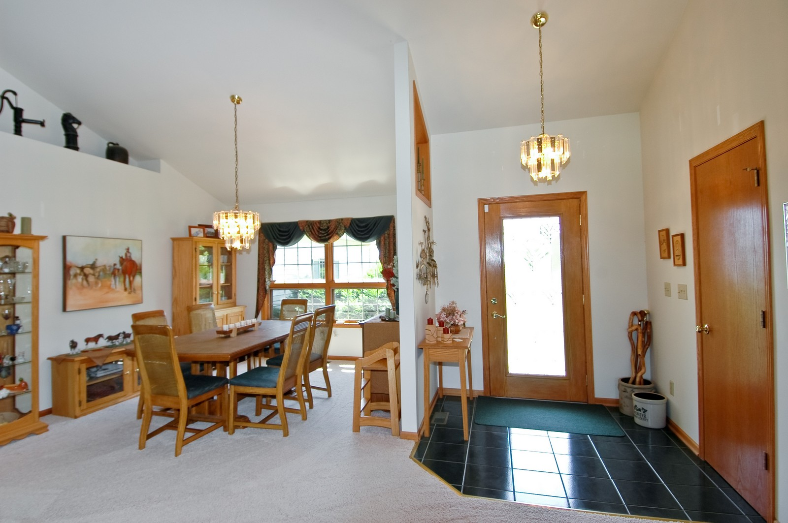 Real Estate Photography - 11785 Coon Trail, Harvard, IL, 60033 - Foyer/Dining Room