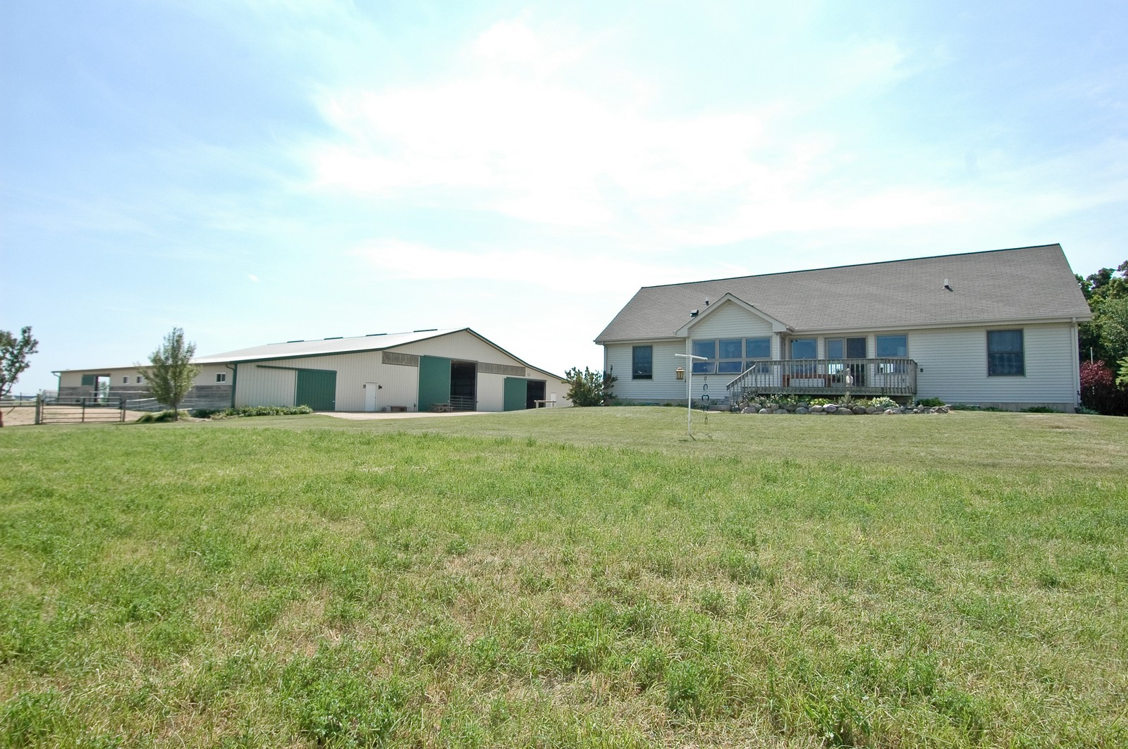 Real Estate Photography - 11785 Coon Trail, Harvard, IL, 60033 - Rear View